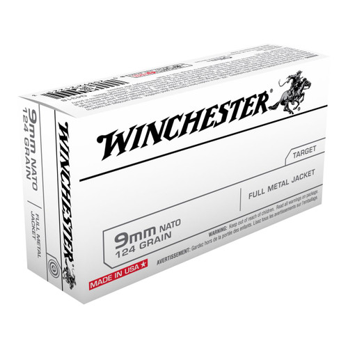 Winchester 9mm NATO 124 Gr FMJ #Q4318 - 020892212213