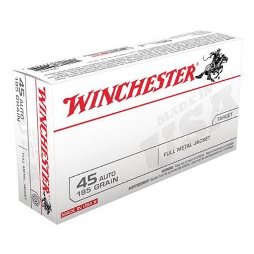 Winchester 45 Auto 185 Gr FMJ #USA45A - 020892212374