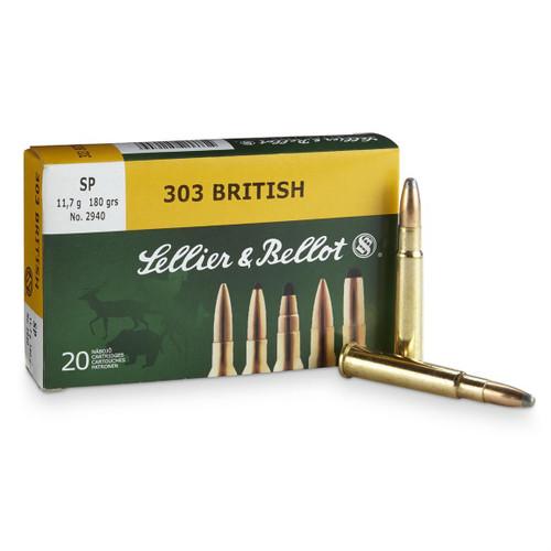 SELLIER & BELLOT .303 British FMJ 180 Grain - 20 Rounds #SB303 - 754908511792