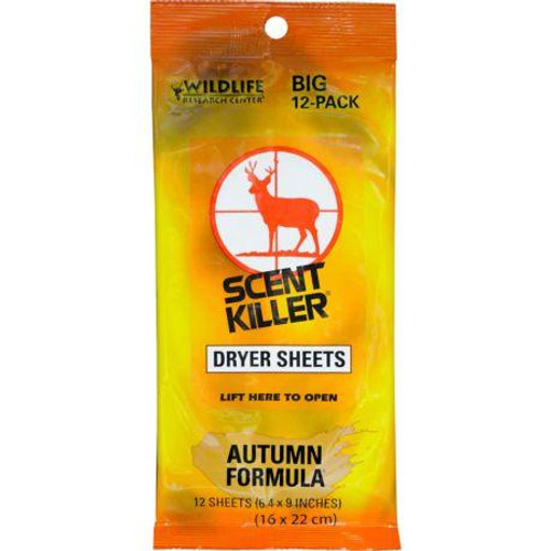 Wildlife Research Scent Killer Autumn Formula Dryer Sheets #580 - 024641005804