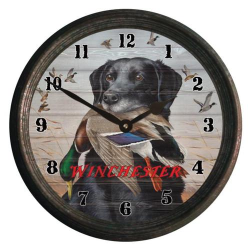 Rivers Edge Clock 15-inch - Black Lab #W1401 - 643323140178