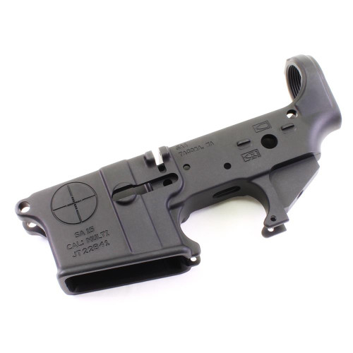 SAA Lower - Reticle Logo Stripped AR-15 - 701748845648