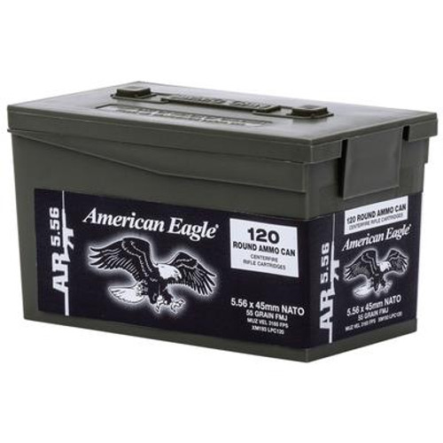 Federal American Eagle 5.56mm NATO 55 Grain FMJ Ammo Can - 029465065119