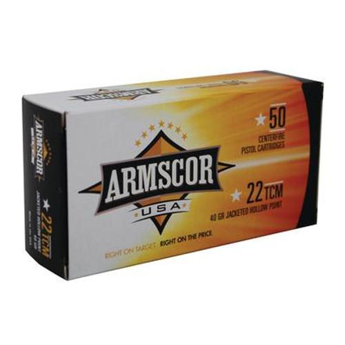Armscor .22 TCM 40 GR JHP - 812285020013