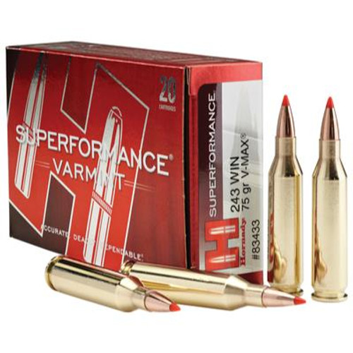 Hornady Superformance Varmint  243 Win 75 GR V-Max