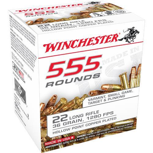 Winchester 555 22LR 36 Gr HP #22LR555HP - 020892102477