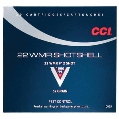 CCI 22 Win Mag Rimfire (WMR) 52 Grain #12 Shot Shotshell #0025 - 076683000255