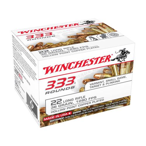 Winchester 333 Bulk 22 LR 36 Gr Plated Lead HP - 020892102217