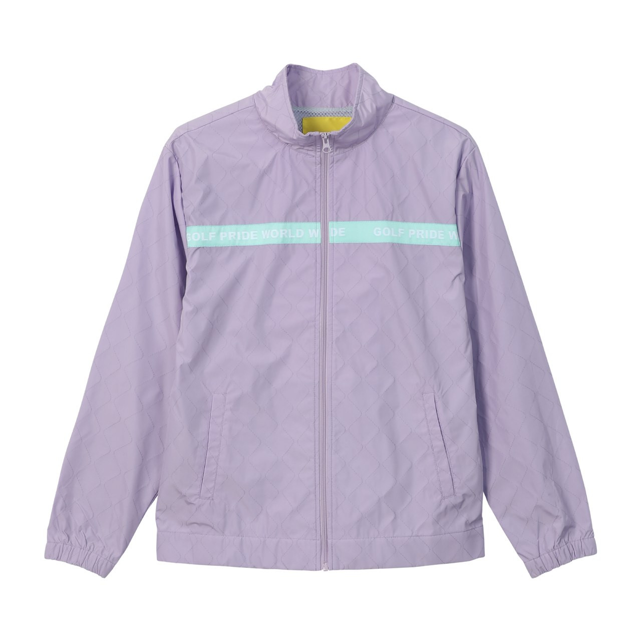 80925d530587d5 WORLD WIDE QUILTED TRACK JACKET - LAVENDER by GOLF WANG - GOLF WANG
