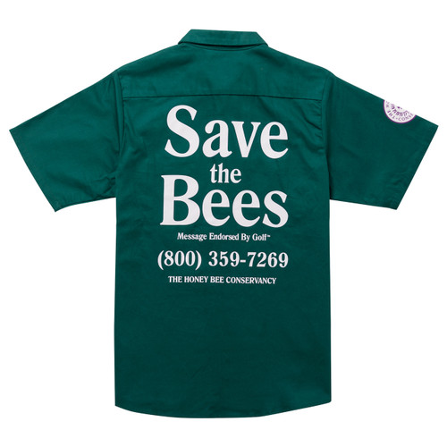online store ff1cb 998ea ... SAVE THE BEES SHORT SLEEVE WORK SHIRT BY GOLF WANG