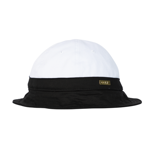 1264ee06044 GOLD MEDALLION BELL BUCKET HAT - BLACK by GOLF WANG