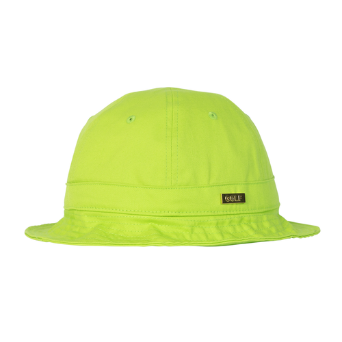 dba9c387f7b69d GOLD MEDALLION BELL BUCKET HAT - LIME by GOLF WANG