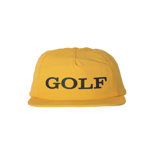 c9059ceb533f89 CORPORATE 5 PANEL HAT - YELLOW by GOLF WANG
