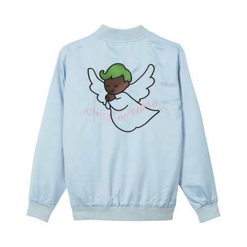 ef125dcb9141 CHILD OF GOLF SATIN JACKET - BABY BLUE by GOLF WANG