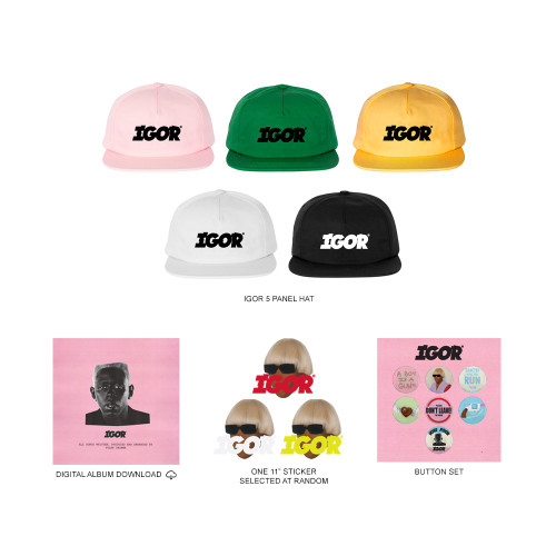 bef2468ae9e01 IGOR HAT PACK + DIGITAL ALBUM DOWNLOAD