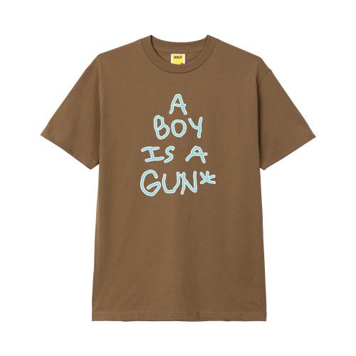 39f4217c BOY IS A GUN TEE MOCHA by GOLF WANG