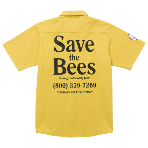 1b5cc65bb66c SAVE THE BEES SHORT SLEEVE WORK SHIRT BY GOLF WANG - GOLF WANG