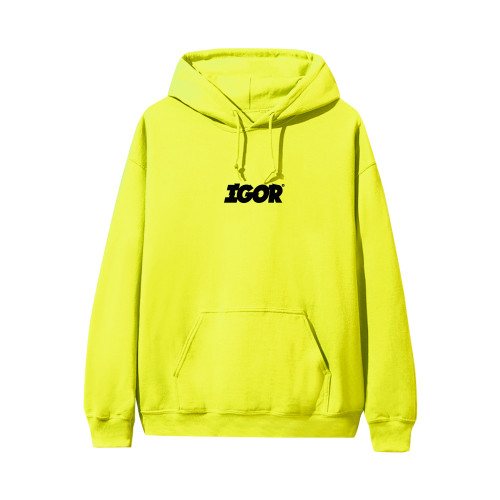 cd5aa9d0 Shoptagr | Igor Hoodie Safety Green By Golf Wang by Golf Wang
