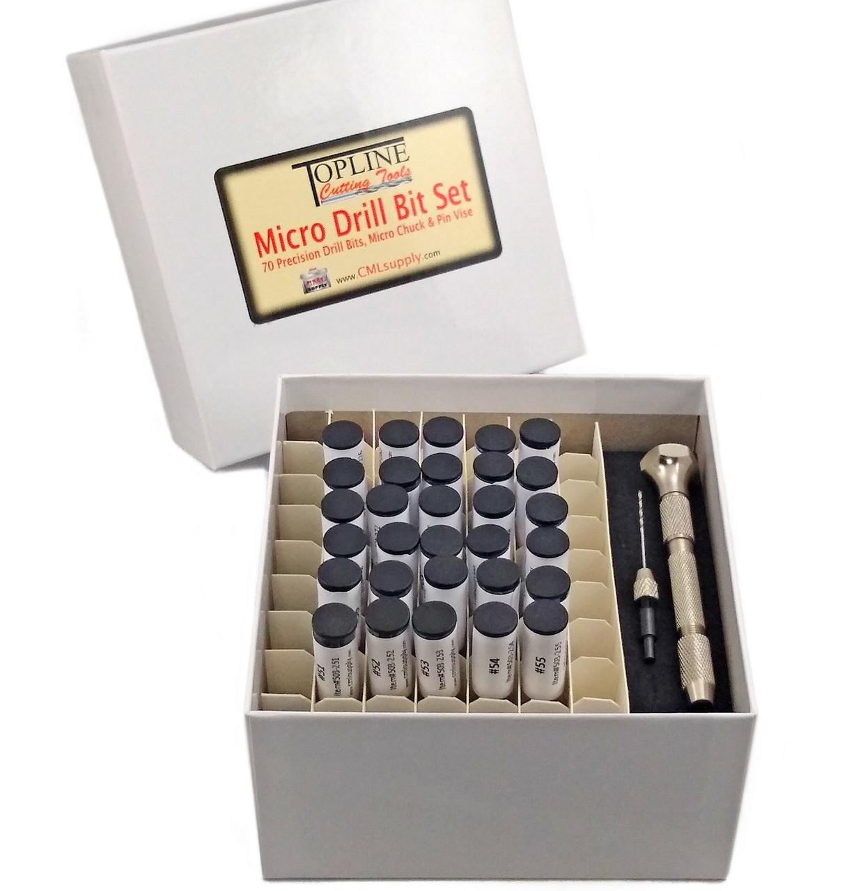 TopLine USA Micro Drill Bit #75 M2 HSS Black Finish 6pcs