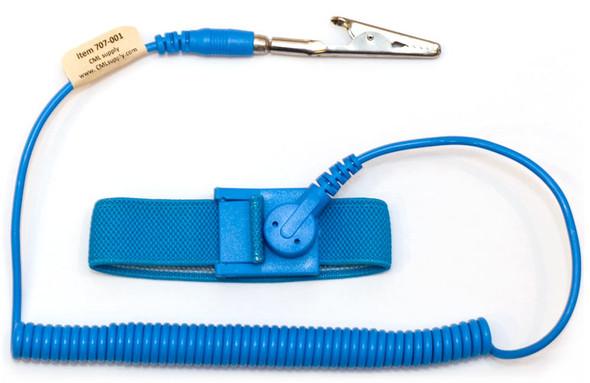 ESD Safe Anti Static Wrist Strap 6ft Ground Cord - Blue