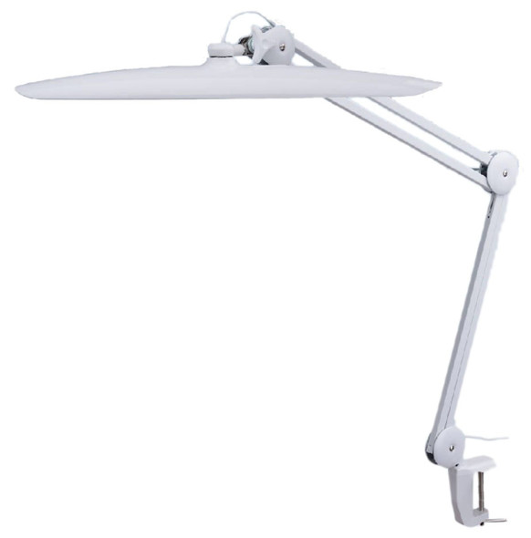 TekLine 39501 Desk Clamp Task Lamp, White 100-LED Daylight