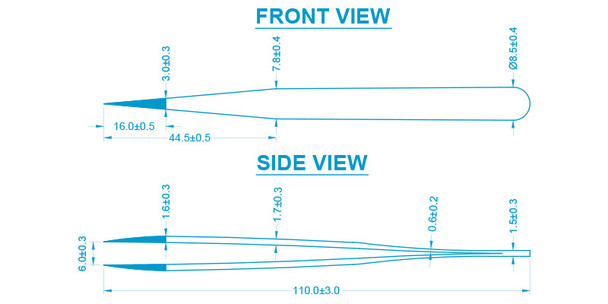 Aven 18056usa tweezer dimensions