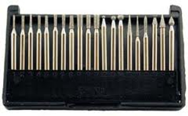 CML Supply 20-Pc Diamond Point Set for Rotary Tools