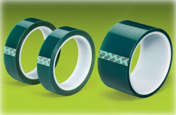 "TekLine Green Polyester Tape Powder Coating High Temp 3/8""x72yd 10mm"