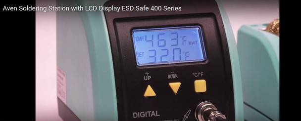 Aven 17400 Soldering Station with LCD Display ESD Safe 400 Series