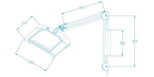 TekLine 39002 Desk Clamp Magnifying Lamp, White 60-LED Daylight