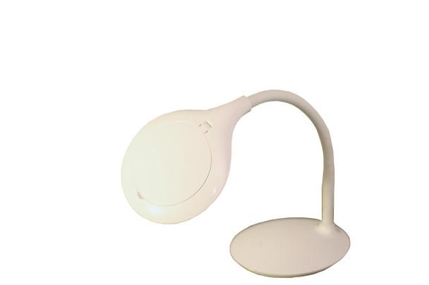 """TekLine 39101A Desk Gooseneck 4"""" Magnifying Lamp, White 30-LED Daylight"""
