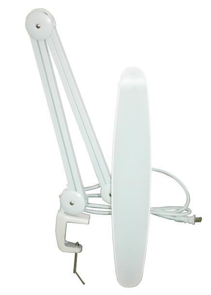 TekLine 39501 Desk Clamp Task Lamp, White 100-LED Daylight