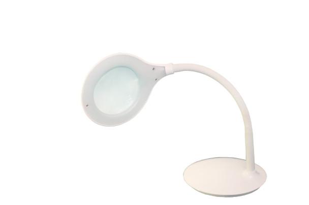 "TekLine 39101A Desk Gooseneck 4"" Magnifying Lamp, White OPEN BOX FREE SHIPPING"