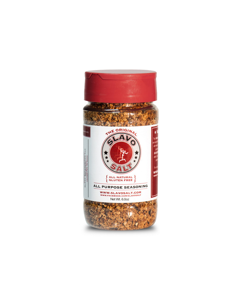 Try Slavo All-Purpose Seasoning once and you'll be putting it on everything! Made with the highest quality, all-natural ingredients without additives or preservatives, this gourmet seasoning enhances the flavor of any dish.  Use it on meat, fish, eggs, veggies, popcorn and even Bloody Marys!
