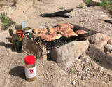 Slavo's Steak, Asparagus and Baked Potato Campfire Dinner