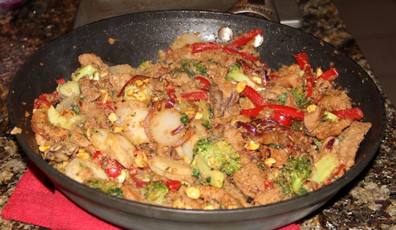 Slavo's Pork Stir Fry with Cauliflower Rice
