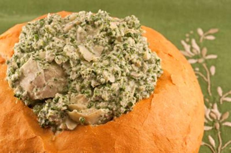 Slavo's Lemony Spinach Artichoke Dip