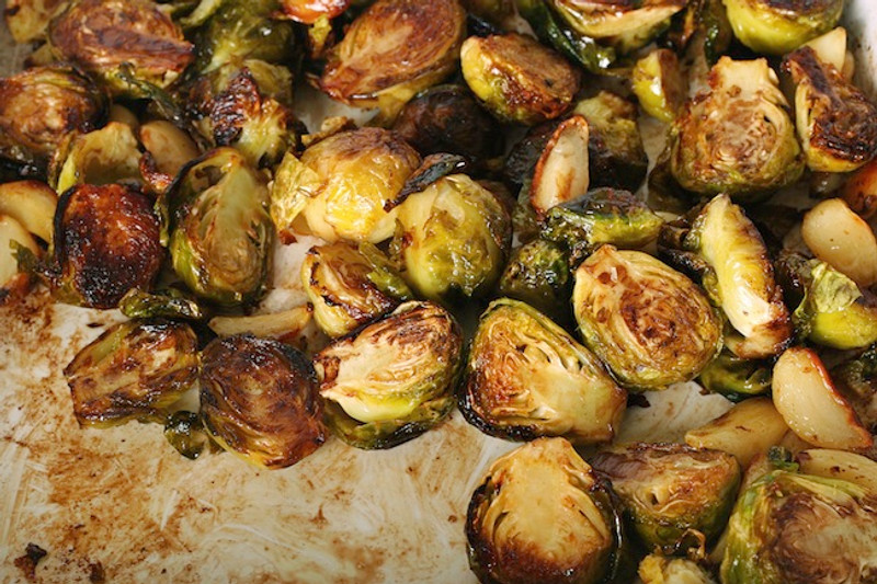 Slavo's Spicy Sriracha Brussels Sprouts