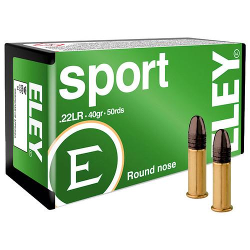 ELEY sport 22 LR, 40 gr, Round Nose Rimfire Ammunition