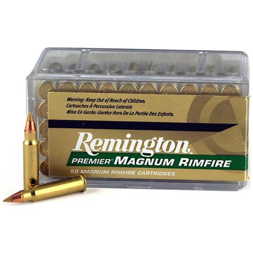 Remington Premier Rimfire 17 HMR, 17 gr, AccuTip-V BT Rimfire Ammunition