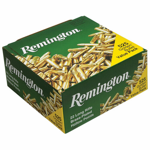Remington 22 Golden Bullet 22 LR, 36 gr, Plated Hollow Point Rimfire Ammunition