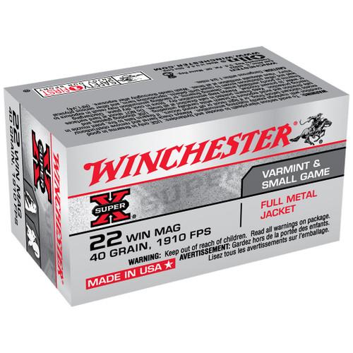 Winchester Super-X 22 WMR, 40 gr, Full Metal Jacket Rimfire Ammunition