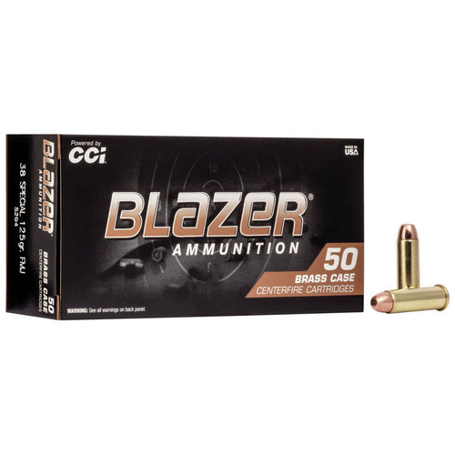 CCI Blazer Brass 38 Spl, 125 gr, FMJ Ammunition