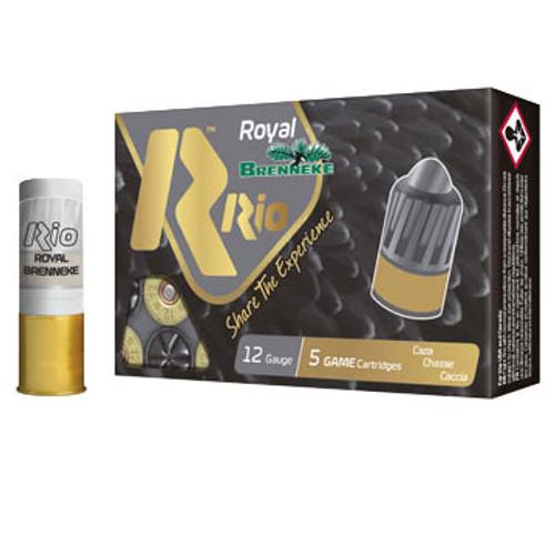 """RIO Royal Brenneke 12 Gauge, 2-3/4"""", 1-1/8 oz, Rifled Slug Ammunition"""