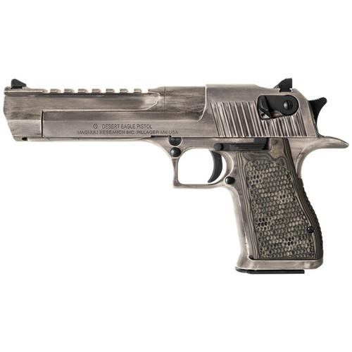 Magnum Research Desert Eagle Mark XIX Pistol, White Matte Distressed