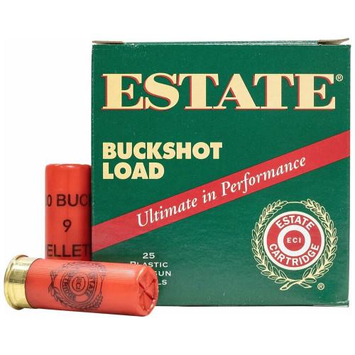 "Estate Buckshot Load 12 Gauge, 2-3/4"", 00 Buck Ammunition"
