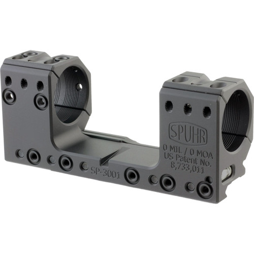 Spuhr SP-3001 ISMS Picatinny Scope Mount - 30mm Rings, 0 MIL / 0 MOA, 30mm Height, Screw Mount