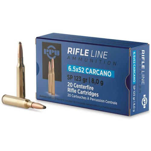 Prvi Partizan Rifle Line 6.5x52mm Carcano 123 gr, SP Ammunition