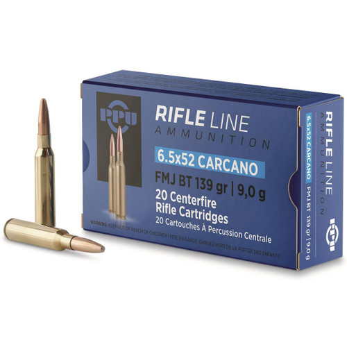 Prvi Partizan Rifle Line 6.5x52mm Carcano 139 gr, FMJ BT Ammunition