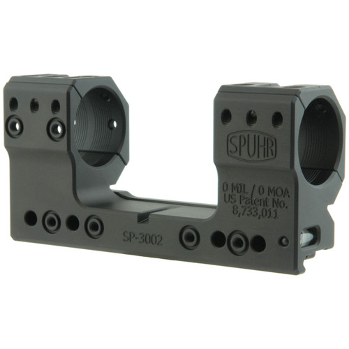 Spuhr SP-3002 ISMS Picatinny Scope Mount - 30mm Rings, 0 MIL / 0 MOA, 38mm Height, Screw Mount